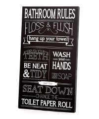 20 Inspirations Black and White Bathroom Wall Art | Wall ...