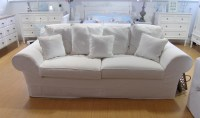 20 Photos White Fabric Sofas | Sofa Ideas