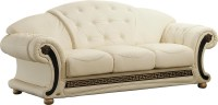 Ivory Leather Sofa Bella Ivory Leather Living Room Sofa ...