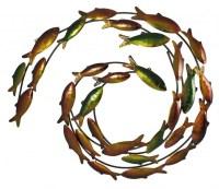 Metal School Of Fish Wall Decor - Home Decorating Ideas