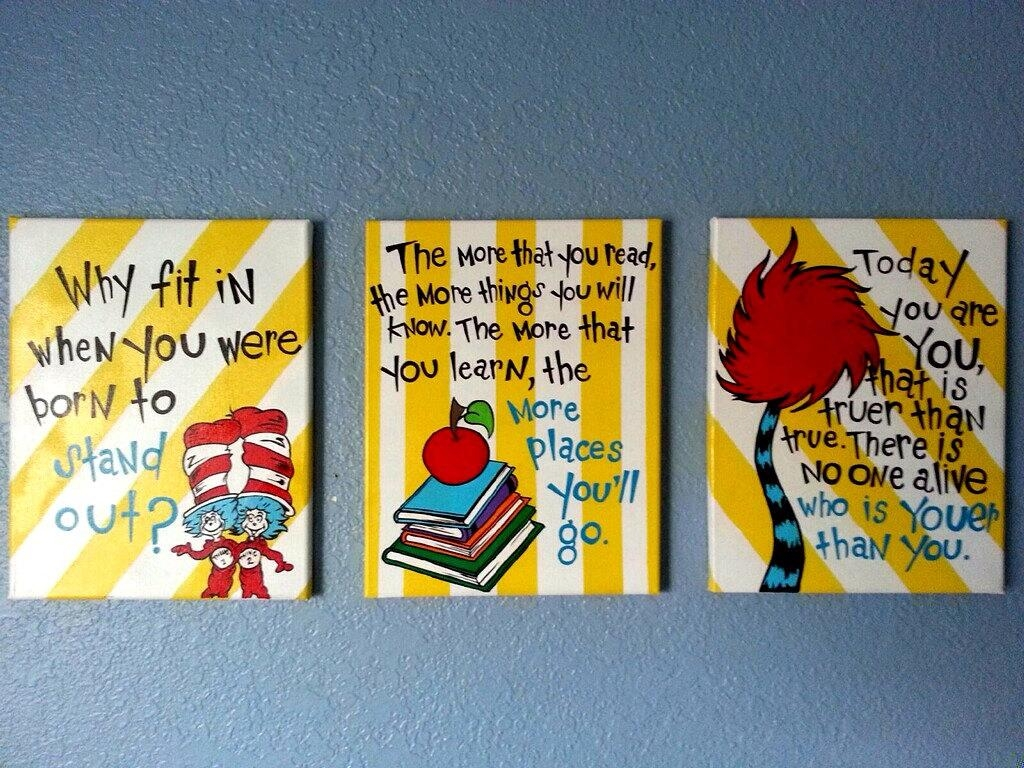 Dr Seuss Canvas Wall Art - dr seuss canvas prints fine art america ...