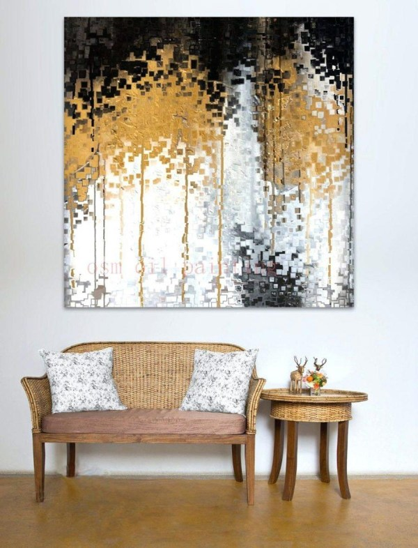Gold and White Canvas Wall Art