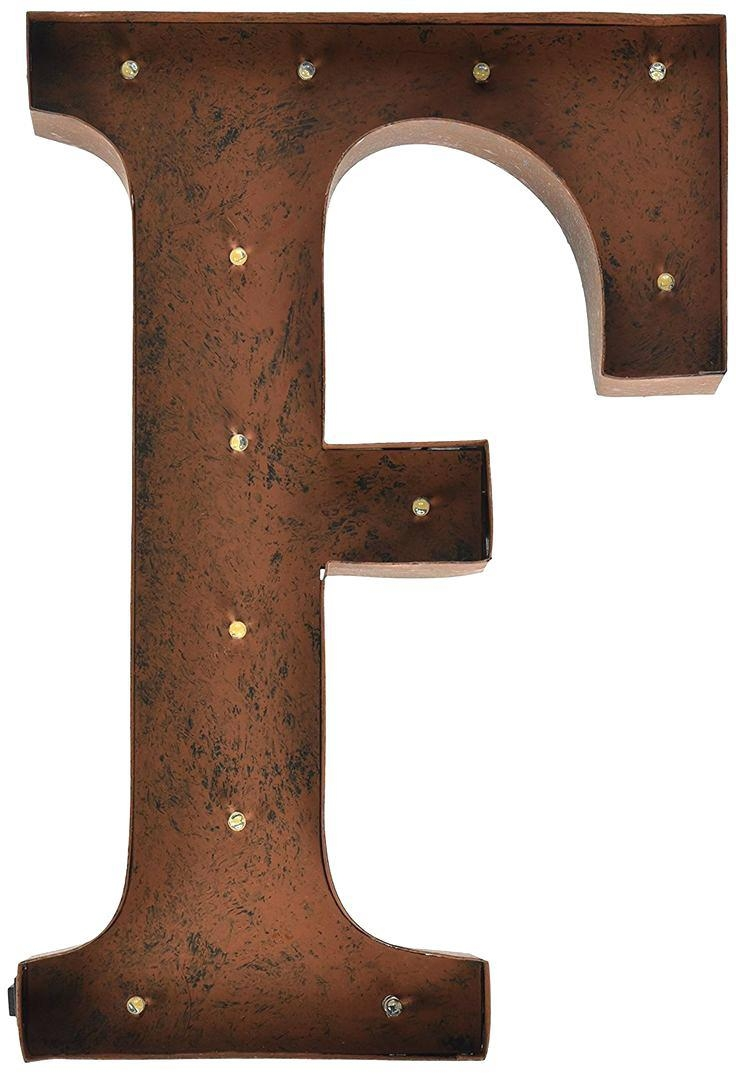 large monogram letters for wall