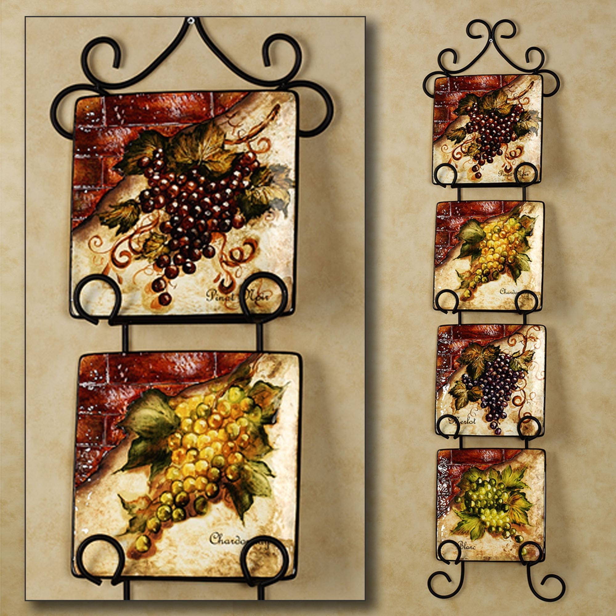 grape decor for kitchen hansgrohe faucet 20 best collection of vineyard wall art ideas