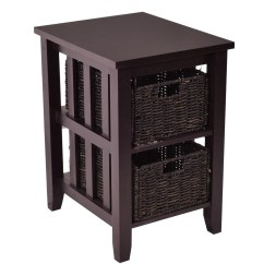 Sofa Table Storage Baskets Brown Leather Living Room 25 Collection Of Side Tables With Storages Ideas