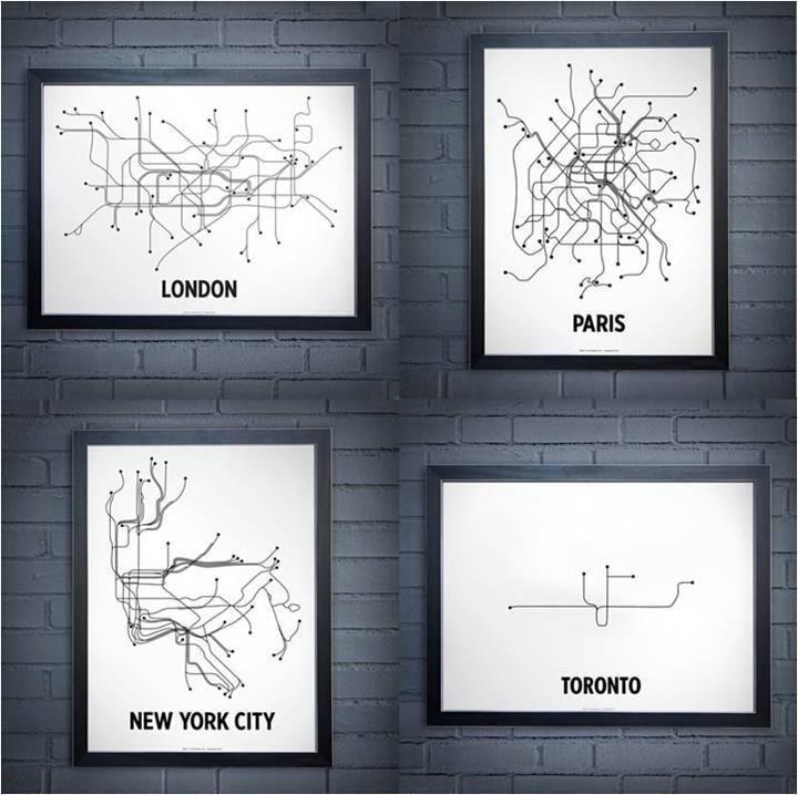 Subway Map Wall Art.Toronto Ontario Etsy Iltribuno Com
