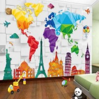 20+ Choices of World Map Wall Art for Kids | Wall Art Ideas