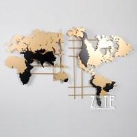 20 Best World Map Wall Art   Wall Art Ideas