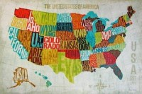 20 Collection of Usa Map Wall Art
