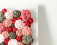 Wall Art Ideas: Fabric Flower Wall Art (Explore #7 of 15 ...