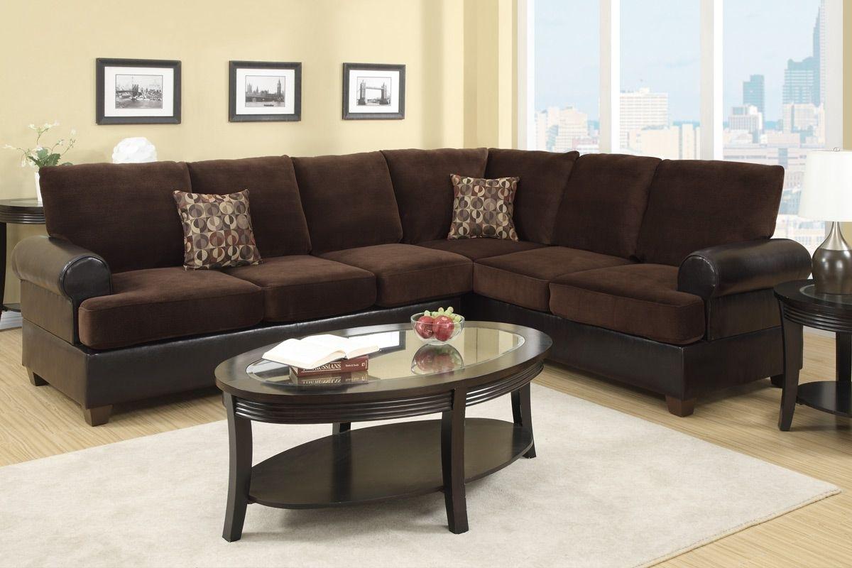 corey chocolate brown sectional sofa flip out foam 10 photos sofas ideas