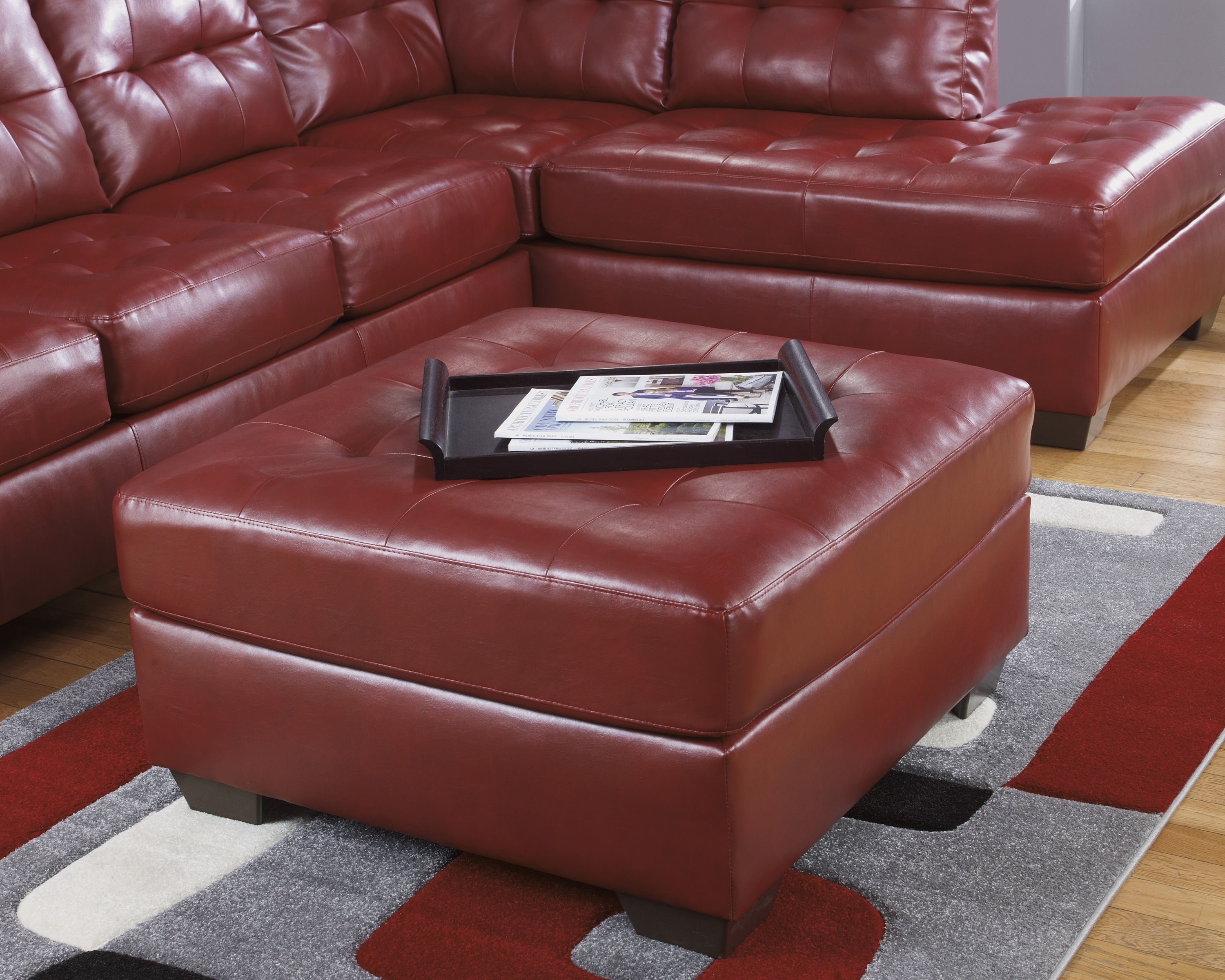 ashley red leather sofa contemporary reclining sectional 10 inspirations sofas with ottoman