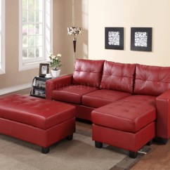Red Sectional Sofa Chaise Benchcraft Sleeper Reviews 10 43 Choices Of Leather Sofas With Recliners