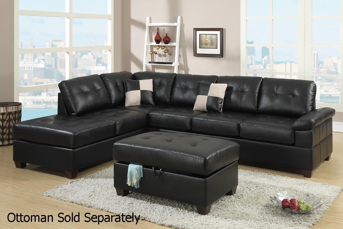 10 Best Collection Of Black Leather Sectionals With