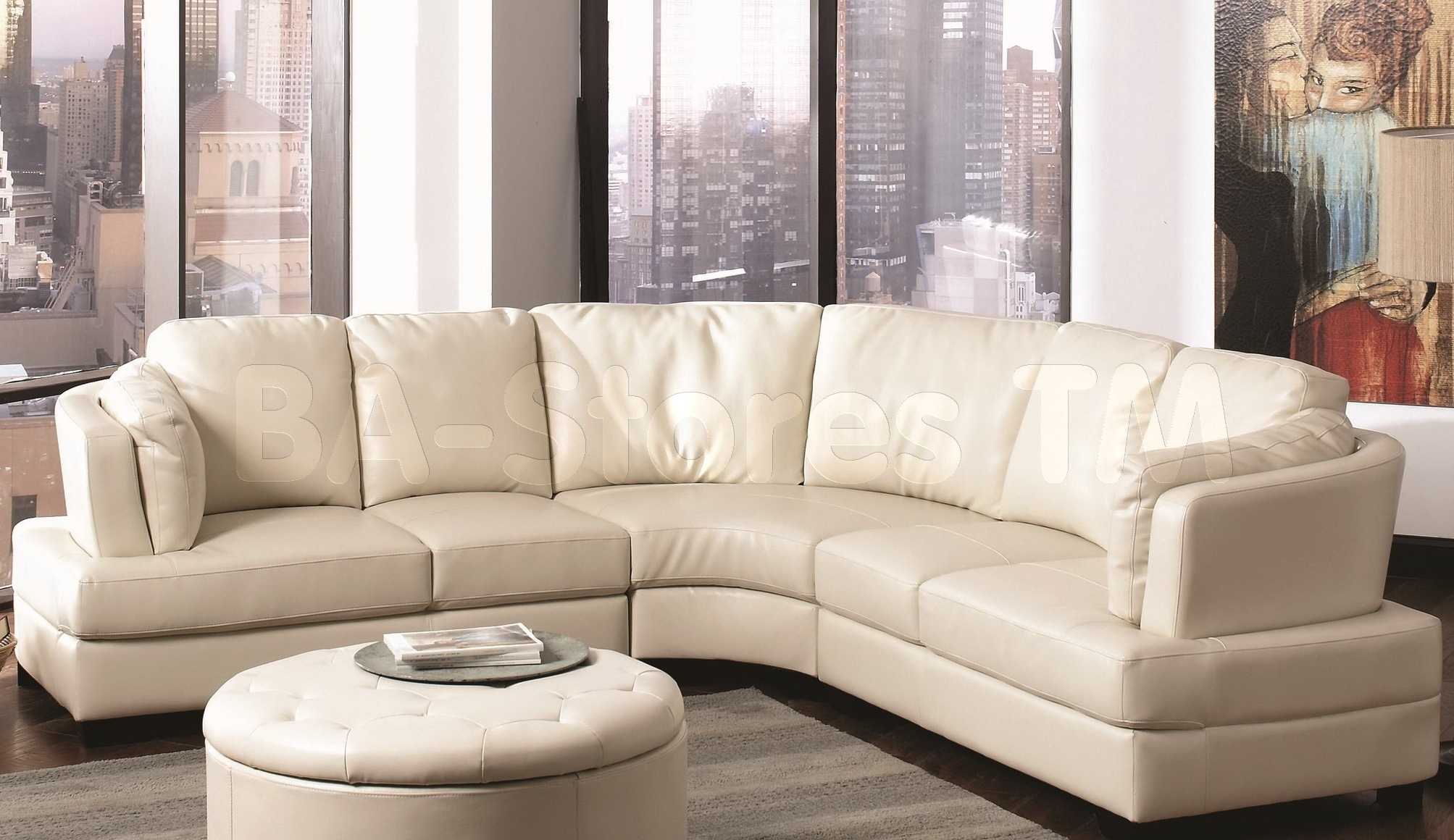 curved sectional sofa set blu dot review 10 collection of round sofas ideas
