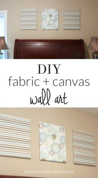 15 Best Ideas Diy Fabric Canvas Wall Art | Wall Art Ideas