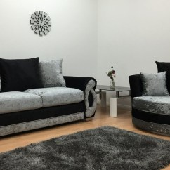 Black 3 Seater Sofa And Cuddle Chair Two Tone Table 10 Collection Of Sofas Chairs Ideas