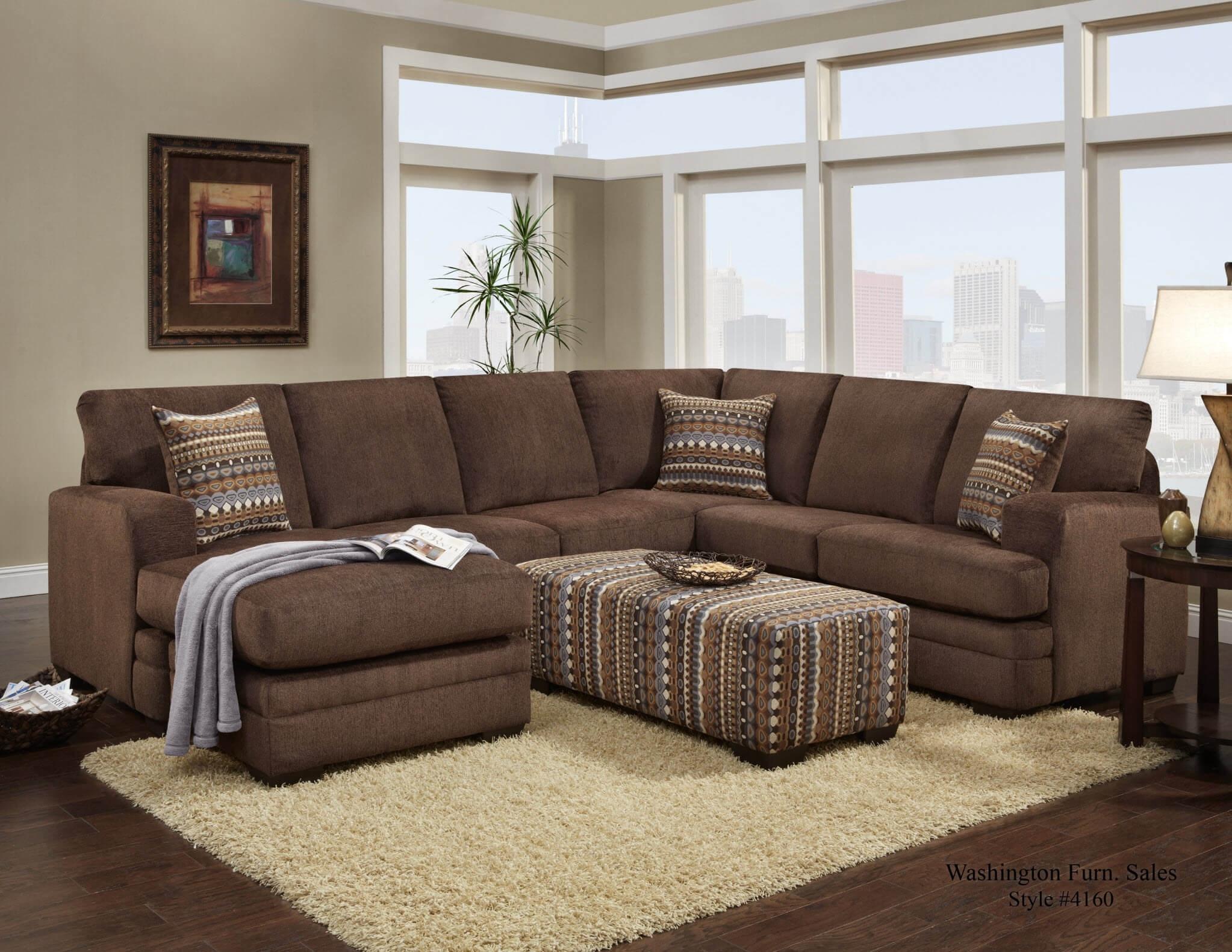 corey chocolate brown sectional sofa chloe 10 photos sofas ideas