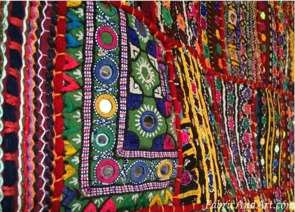 indian art tribal wall hangings sari quilts