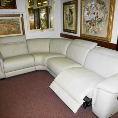 Caruso Leather 5 Piece Power Motion Sectional Sofa Tufted 10 Ideas Of Sofas