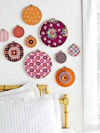 2018 Latest Fabric Circle Wall Art | Wall Art Ideas
