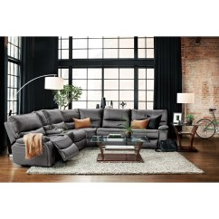 Orlando Sectional Sofa Beige Microfiber Reclining 10 Photos Sofas Ideas