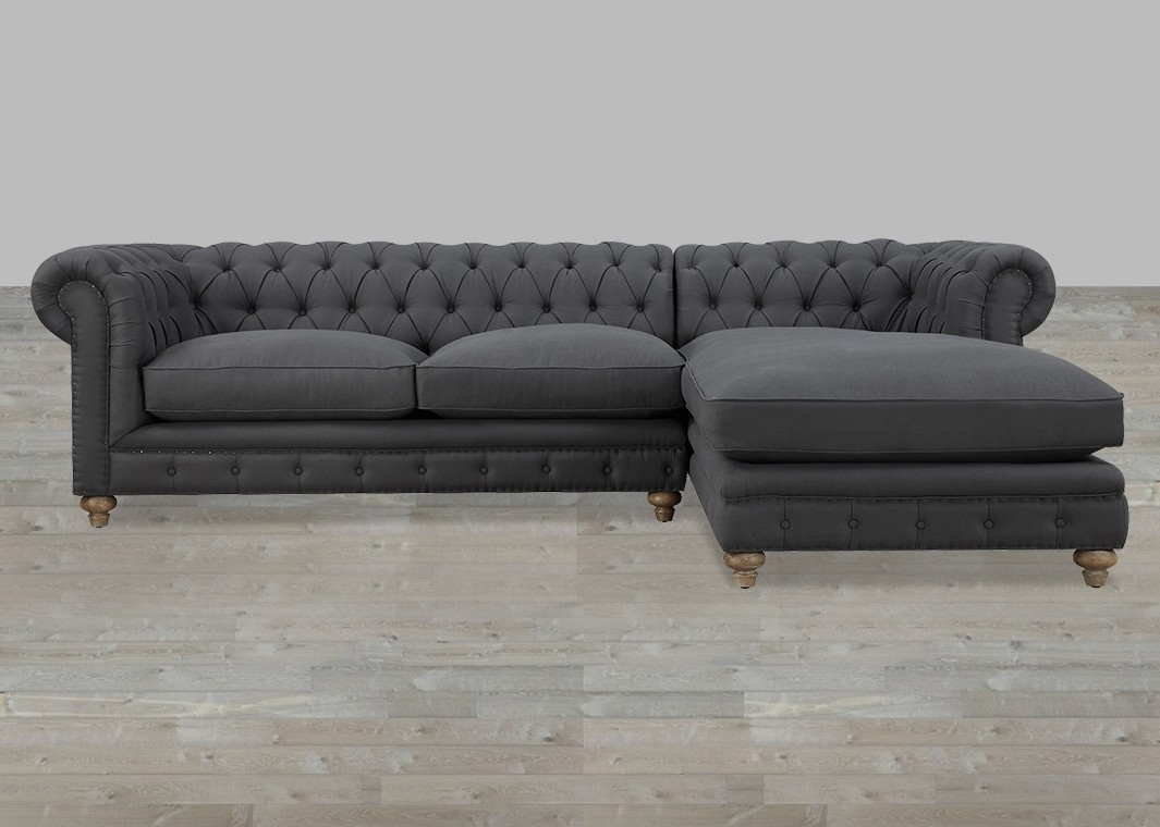 2019 Latest Tufted Sectional Sofas With Chaise  Sofa Ideas