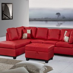 4087 Leather Sectional Sofa With Recliners Klaussner Sofas Reviews 10 43 Choices Of Red