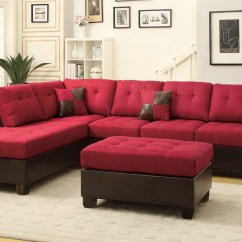 Red Sectional Sofa Chaise Apartment Size Bed 10 Ideas Of Leather Sectionals With