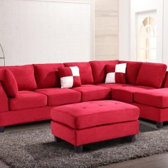 Red Sofa Sectional Cream Leather 2018 Latest Sofas With Ottoman Ideas