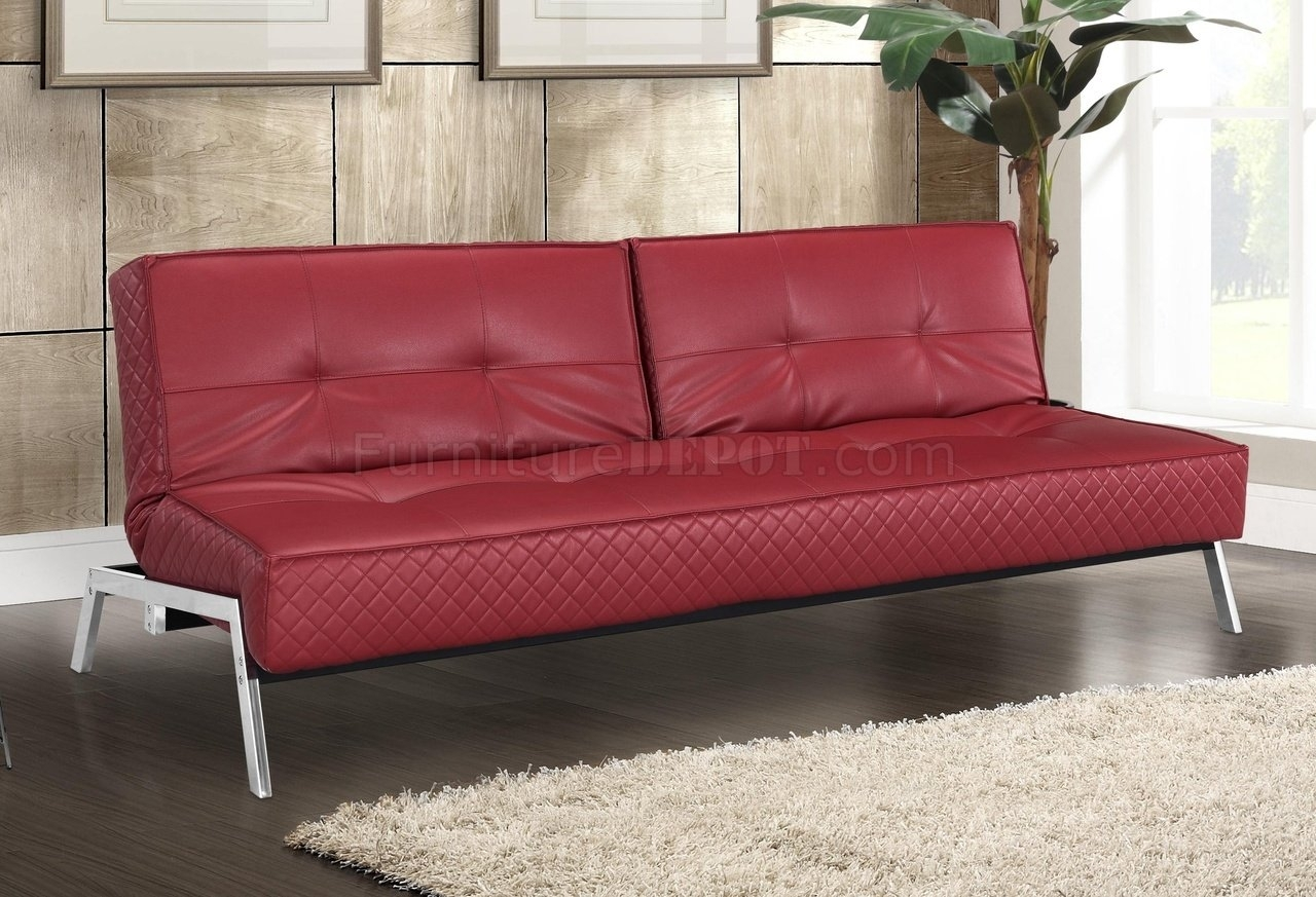red leather sleeper sofa circle cad block 12 photos sofas ideas