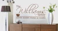 20 Best Ideas Family Name Wall Art