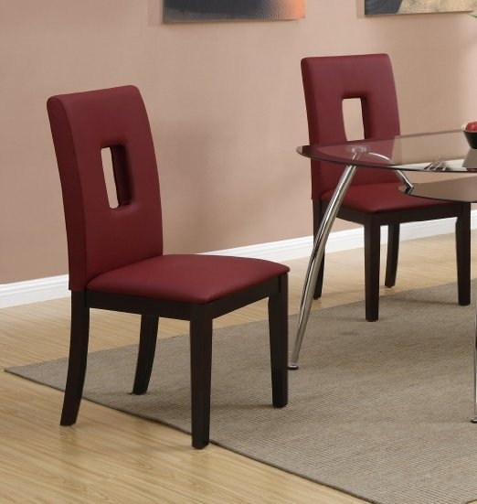 2019 Latest Red Leather Dining Chairs  Dining Tables Ideas