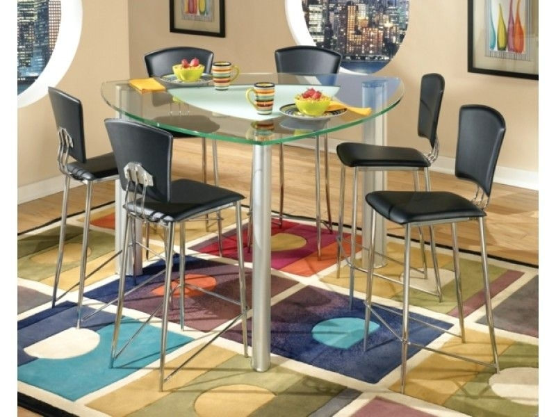 25 Ideas Of Caira Black 7 Piece Dining Sets With Arm
