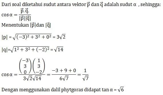 Soal Hots Vektor Matematika