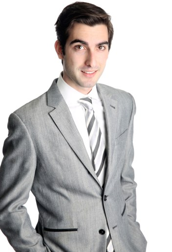 3/4 shot of man in business suit