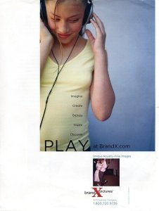 Communication Arts ad with little girl listening to MP3