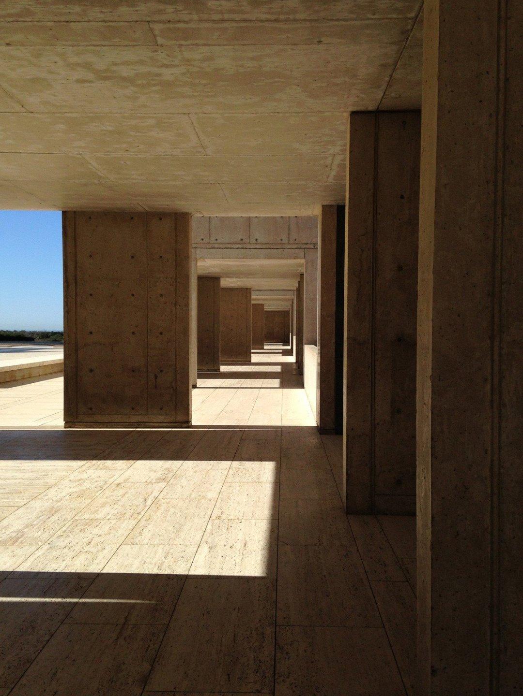 Architectural shot at the Salk Institute in La Jolla, California