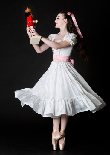 Female ballet dancer in costume for the Nutcracker