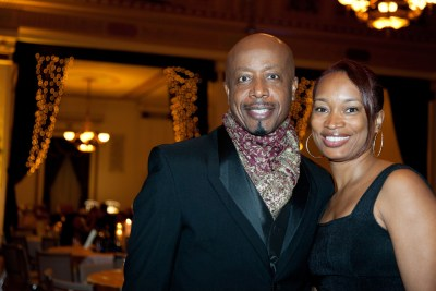 MC Hammer and friend at fundraiser