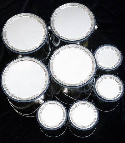 Product shot of metal cans
