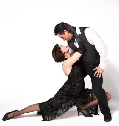 Tango dancers posing