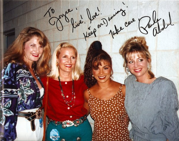 Tanya Foster with Paula Abdul