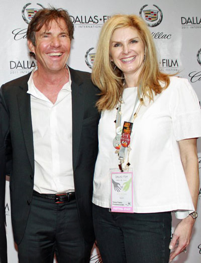 Tanya Foster at 2011 DIFF – ON THE RED CARPET WITH DENNIS QUAID