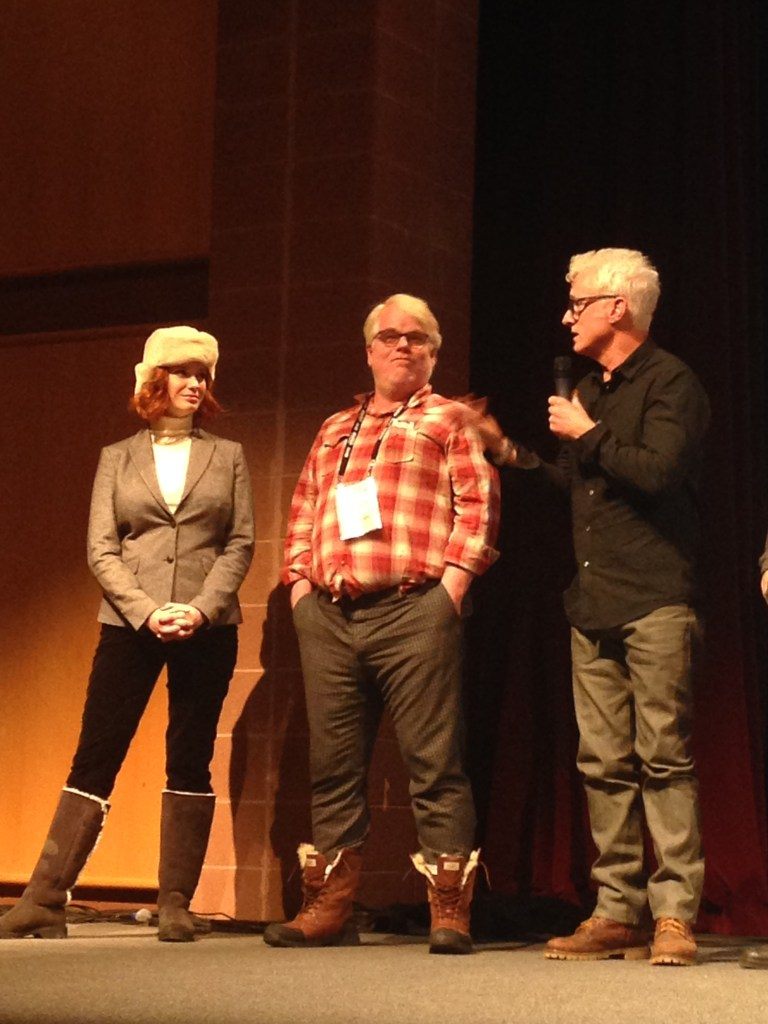 Sundance: Christina Hendricks, Phillip Seymour Hoffman and John Slattery at the Q&A for GOD'S POCKET