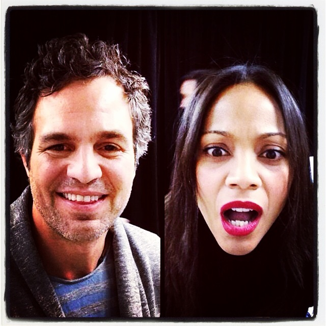 Sundance: Mark Ruffalo and Zoe Saldana immediately before the screening of INFINITELY POLAR BEAR Photo credit: Sundance Film Festival