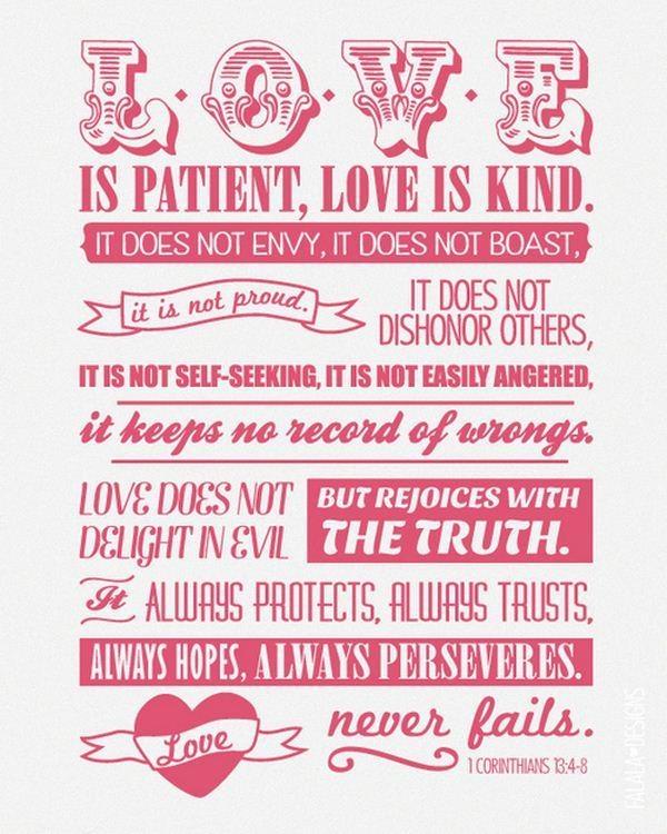 Love is patient....
