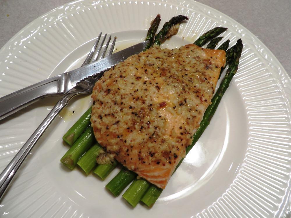 Garlic Parmesan Salmon Bake