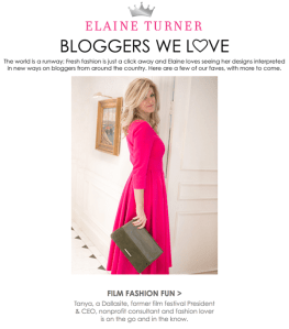 Tanya Foster in Elaine Turner's Bloggers We Love