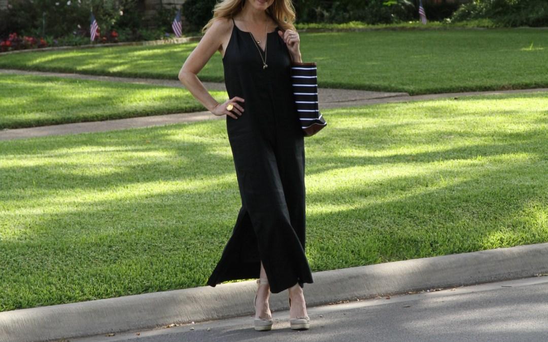 the perfect little black linen dress